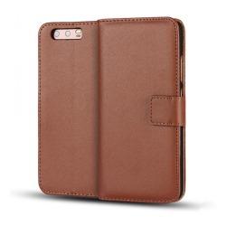 Huawei P10 Plus - Stilrent Plånboksfodral från ROYBAN (Läder) Brun