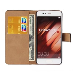 Huawei P10 - REA! Plånboksfodral i Läder från TOMKAS Ljusrosa