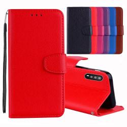 Huawei P20 - Elegant Plånboksfodral Röd