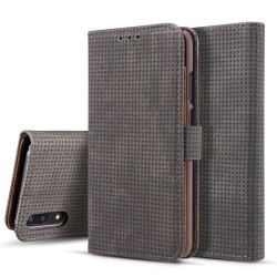 Huawei P20 - Klassiskt Fodral i Retro-look (PU-Läder) Gråsvart