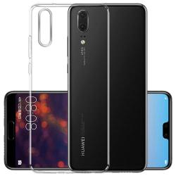Huawei P20 - Smart Skyddsskal i Silikon från FLOVEME Transparent/Genomskinlig