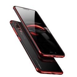Huawei P20 - Skyddande Silikonskal (FLOVEME) Röd