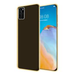 Huawei P40 - Stilrent Skyddande Dubbelsidigt Silikonskal Guld