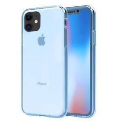 iPhone 12 Mini - Stötdämpande Stilrent Dubbelsidigt Silikonskal Blå