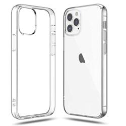 iPhone 12 Pro Max - Stilrent Skyddande Silikonskal Transparent/Genomskinlig