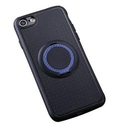 iPhone 5/5S/SE - Carbon Silikonskal med Ringhållare FLOVEME Röd