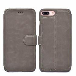 iPhone 6/6S Plus (Class-Y) Plånboksfodral Grå