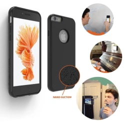 Praktiskt Anti-Gravity Silicon skal för iPhone 6/6S PLUS FLOVEME Svart