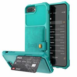 iPhone 6 Plus/6S Plus - Praktiskt Skal med Kortfack Grön