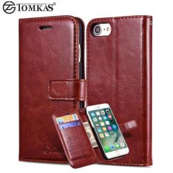 iPhone 7 PLUS Elegant Plånboksfodral från TOMKAS (ORGINAL) Röd