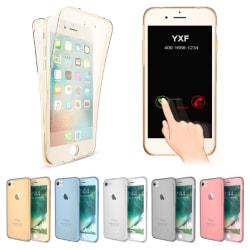 Praktiskt Silikonfodral med TOUCHFUNKTION för iPhone 7 PLUS Blå