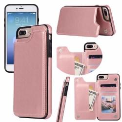 iPhone 7 Plus - Praktiskt Läderskal med Plånbok från NKOBEE Rosa