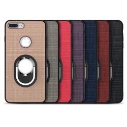 iPhone 7  PLUS- Stilrent Silikonskal med Ringhållare FLOVEME Blå