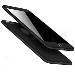 Praktiskt Skyddsfodral för iPhone 7 PLUS (Fram och bak) Svart