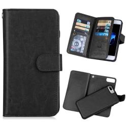 Stilsäkert Smart 9-korts Plånboksfodral för iPhone 7 FLOVEME Svart