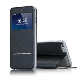 iPhone X - Exklusivt Smartfodral Fönster Svarsfunktion Ställ Svart