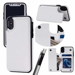 iPhone X/XS Flexibla Kortfodral Vit