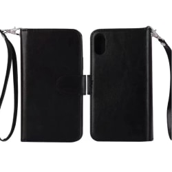 FLOVEMES 9-Kort Plånboksfodral med Extraskal iPhone X/XS Svart