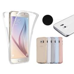 Samsung Galaxy J3 2017 Dubbelt Silikonfodral (TOUCHFUNKTION) Rosa