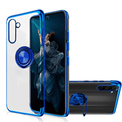 Samsung Galaxy Note10 - Praktiskt Skal med Ringhållare FLOVEME Blå