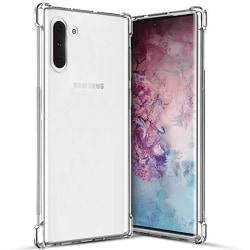 Samsung Galaxy Note 10 - Robust Skyddsskal i Silikon Transparent/Genomskinlig