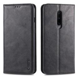 OnePlus 7 Pro - Praktiskt Stilrent Plånboksfodral Svart