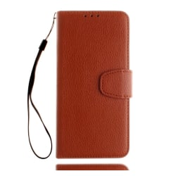 Huawei P10 Lite - Stilrent Plånboksfodral från NKOBEE Brun
