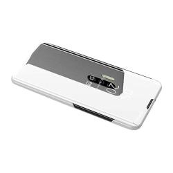 Huawei P30 - Praktiskt Smart Fodral från Leman (CLEAR-VIEW) Silver