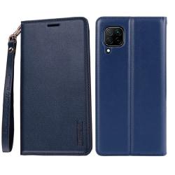 Huawei P40 Lite - Professionellt Hanman Plånboksfodral Mörkblå