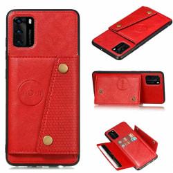 Skyddsskal med Korthållare - Huawei P40 Röd