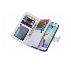 Praktiskt Plånboksfodral (LEMAN) - Samsung Galaxy S6 Edge Plus Röd
