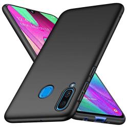Robust Mattbehandlat Silikonskal - Samsung Galaxy A40 Svart