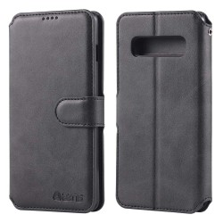 Robust Slittåligt Plånboksfodral (AZNS) - Samsung Galaxy S10 Svart