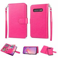 Plånboksfodral - Samsung Galaxy S10+ Rosaröd