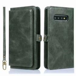 Professionellt Plånboksfodral - Samsung Galaxy S10 Plus Mörkgrön