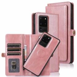 Samsung Galaxy S20 Ultra - Robust Smart Plånboksfodral Roséguld