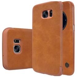 Praktiskt Fodral (NILLKIN) för Samsung Galaxy S7 Edge Brun