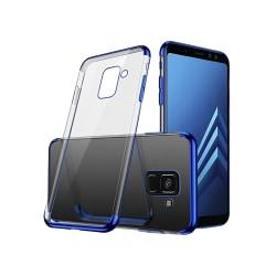 Effektfullt Skal av mjuk Silikon till Samsung Galaxy A6 Silver