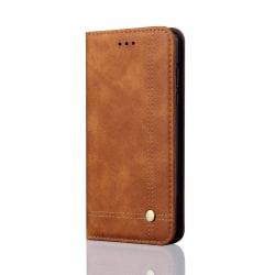 Smidigt och Stilsäkert Plånboksfodral för Samsung Galaxy A6+ Ljusbrun