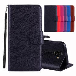 Praktiskt Plånboksfodral till Samsung Galaxy A6 Plus Röd