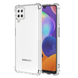 Samsung Galaxy A12 - Stilrent Floveme Skyddsskal Transparent/Genomskinlig