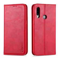 Samsung Galaxy A20S - Genomtänkt Stilrent Plånboksfodral Röd
