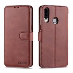 Samsung Galaxy A20S - Stilsäkert Yazunshi Plånboksfodral Brun