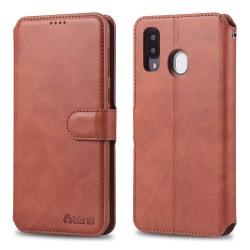 Samsung Galaxy A40 - Stilrent Plånboksfodral Röd
