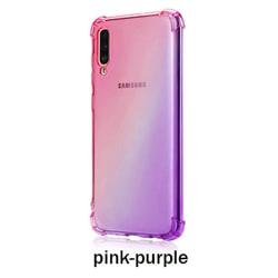 Samsung Galaxy A50 - Genomtänkt Floveme Silikonskal Rosa/Lila