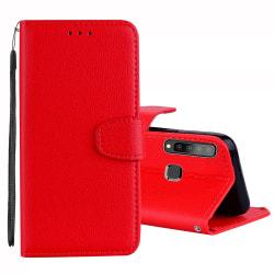Samsung Galaxy A9 2018 - Praktiskt Plånboksfodral (NKOBEE) Röd