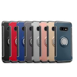 Samsung Galaxy S10Plus - HYBRID-Skal med Ringhållare av FLOVEME Petrol