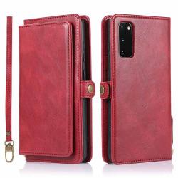 Samsung Galaxy S20 - Robust Dubbelfunktion Plånboksfodral Röd