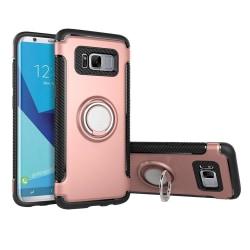Samsung Galaxy S8+ - Skal med Ringhållare från FLOVEME Roséguld