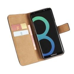Plånboksfodral i Läder för Samsung Galaxy J7 (2017) Grön